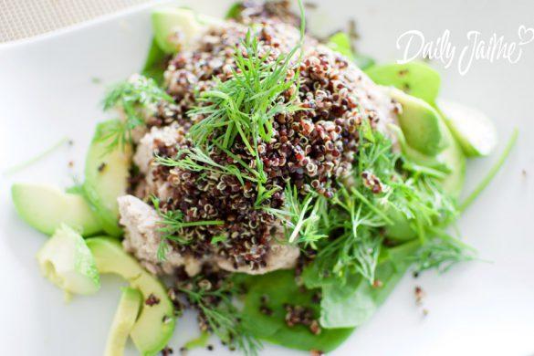 quinoa met makreelfilet