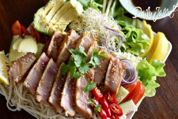 seared tonijn salade